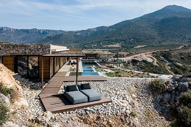 Stylish villa design in the middle of Crete island