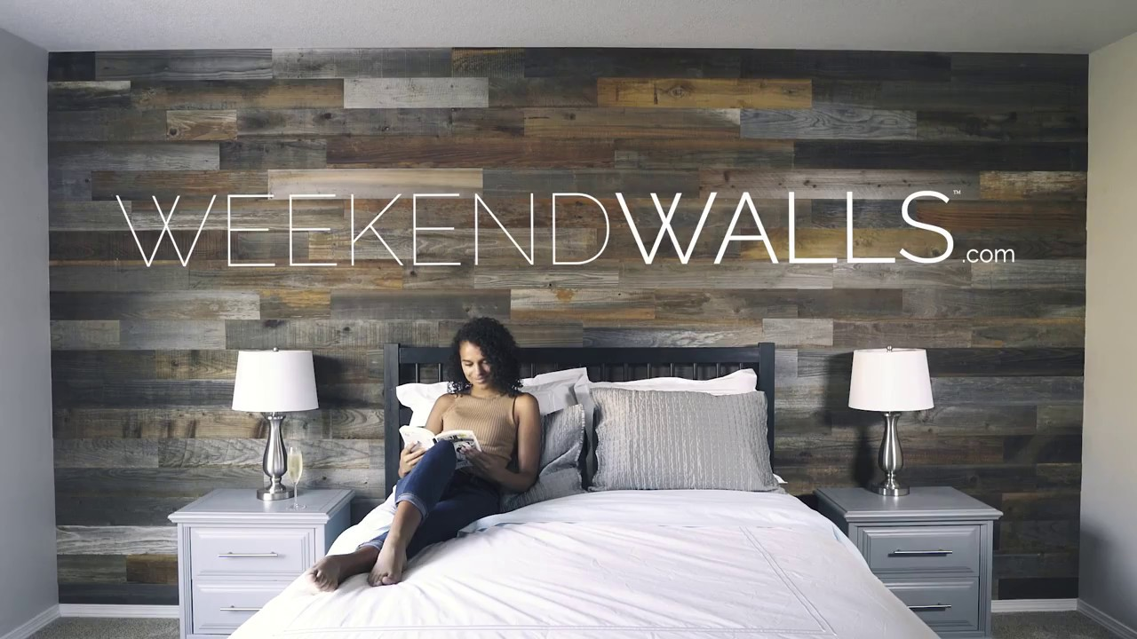 Pick your wall style with weekend walls